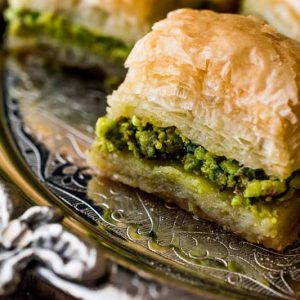 Baklava Sherbet and Dough Based Dessert